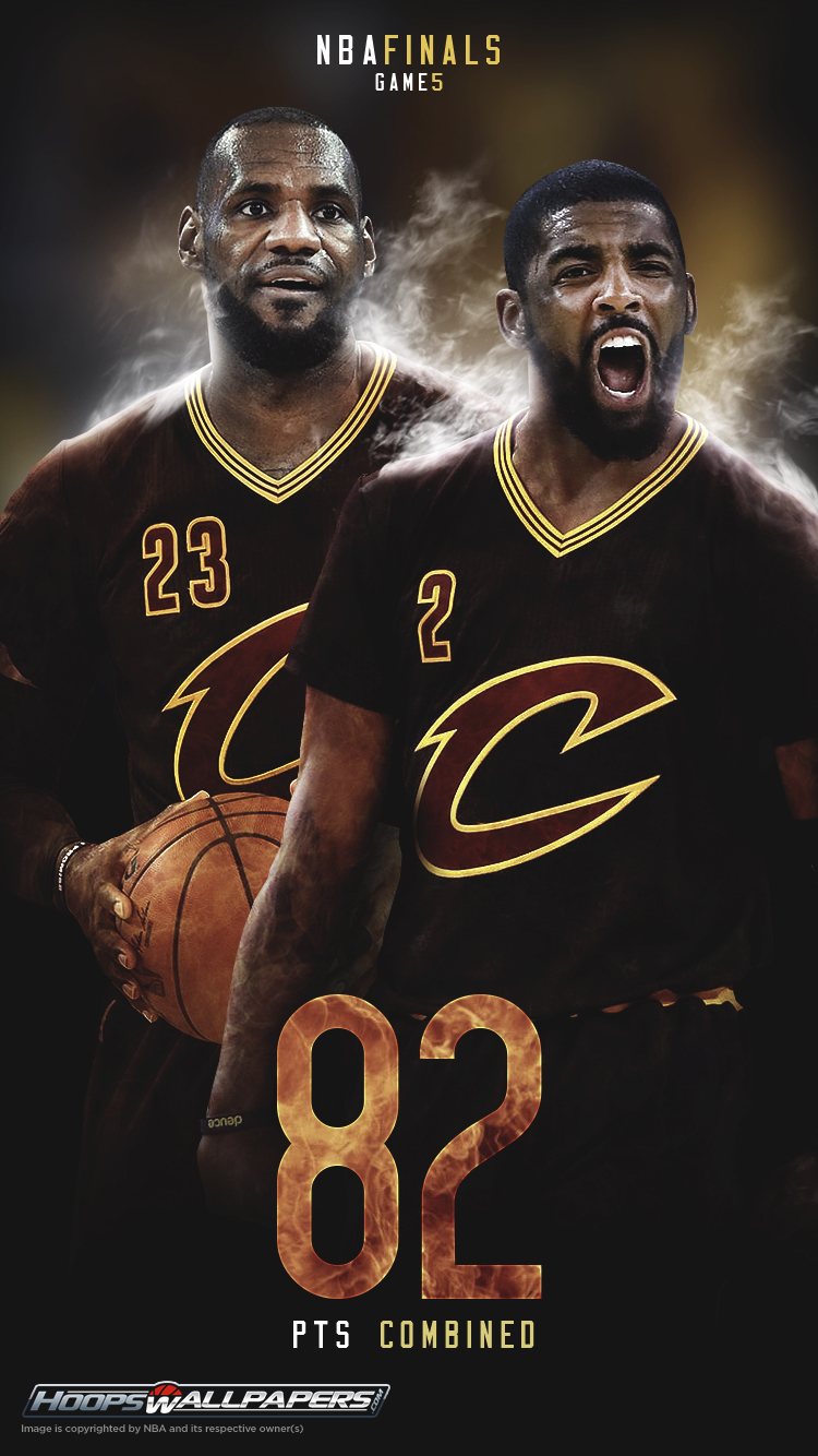 Kyrie Irving And LeBron James NBA Finals 2016 Game 5 Explosion Mobile Wallpaper