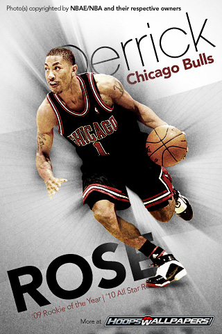 derrick rose wallpaper black and white. derrick rose wallpaper black