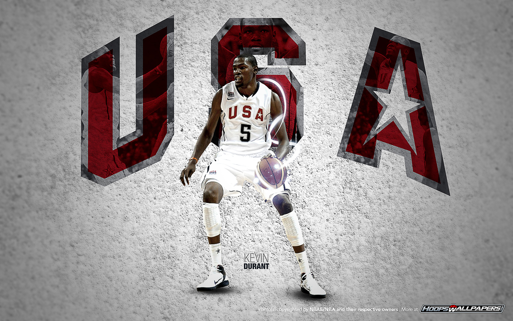 Team USA Kevin Durant Wallpaper 1680x1050