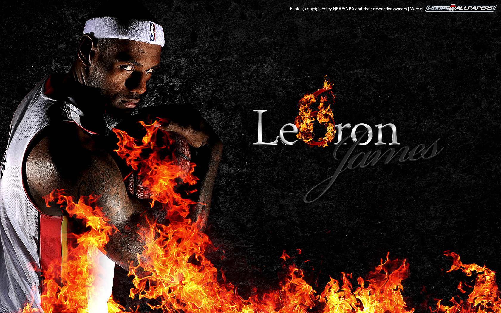 LeBron James 6 Miami Heat Wallpaper 1680x1050